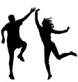 man and woman jumping vector image vector image