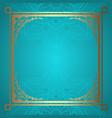 mandala background with decorative gold border vector image vector image