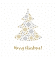 Merry Christmas card Minimalist style Abstract vector image vector image