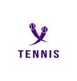 motion tennis ball logo icon template vector image