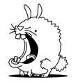 mouth bunny line drawing vector image
