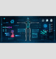 mrt and body scan in hud style design vector image vector image