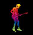 musician playing bass music band vector image