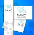 nano logo vector image vector image