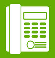 office business keypad phone icon green vector image vector image