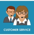 Online Support and operator design vector image vector image