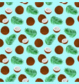 pattern with coconut vector image