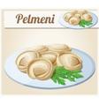 Pelmeni Meat dumplings Cartoon icon vector image vector image