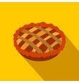 Pie flat icon with shadow vector image vector image