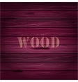 Pink wood texture background with text vector image