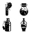 potion icons set simple style vector image vector image