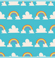 rainbows background nature vector image vector image