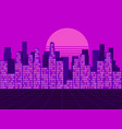 retro futuristic city in the style of the 80s vector image