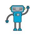 robot little cute cartoon style cyborg technology vector image vector image