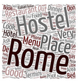 Rome don t miss a dinner text background wordcloud vector image vector image