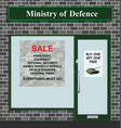 sale at ministry defense vector image vector image