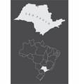 sao paulo state brazil vector image vector image