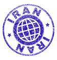 scratched textured iran stamp seal vector image vector image