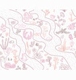 seamless spring pattern with flowers and papre vector image vector image