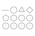 set geometric shapes polygons set polygon vector image vector image