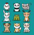 set of cute animal vector image vector image