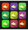 Set of flat icon hands eps vector image vector image