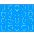 Shields line icons vector image
