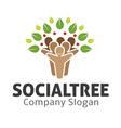 Social Tree Design vector image vector image