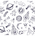 space themed seamless pattern vector image