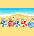 summer beach vacation sunbed vector image vector image