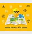 taxi services concept vector image vector image