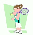 tennis player cartoon vector image vector image