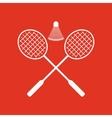 The badminton icon Sport symbol Flat vector image vector image