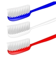 Toothbrush vector image vector image