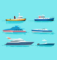 vessels with various functions set vector image vector image