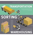 Warehousing process infographics vector image vector image