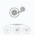 Wheel pressure tire service and siren alarm vector image vector image