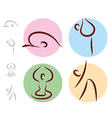 Yoga exercise buttons vector image vector image