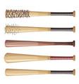 baseball bats set vector image