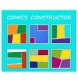 Comics book element vector image