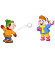kids playing with snow vector image