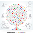 Networks Tree vector image