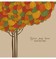 Abstract autumn tree made of waves for your design vector image vector image