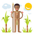 african aborigine flat style colorful vector image
