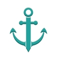 anchor sea lifestyle nautical icon graphic vector image vector image