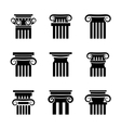 Ancient columns icons vector image vector image
