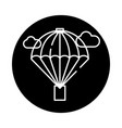 balloon black icon sign on isolated vector image vector image