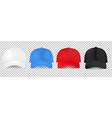 baseball cap design template set transparent vector image