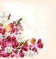 beautiful background with pink flowers vector image vector image