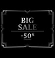 black friday big sale discount 50 percent art vector image vector image